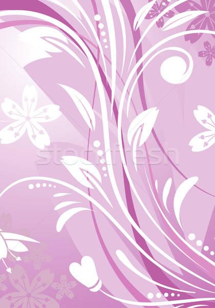 Floreale foglia modello onda elemento design abstract Foto d'archivio © -TAlex-