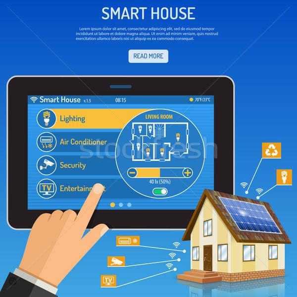 Smart дома интернет вещи человека Сток-фото © -TAlex-