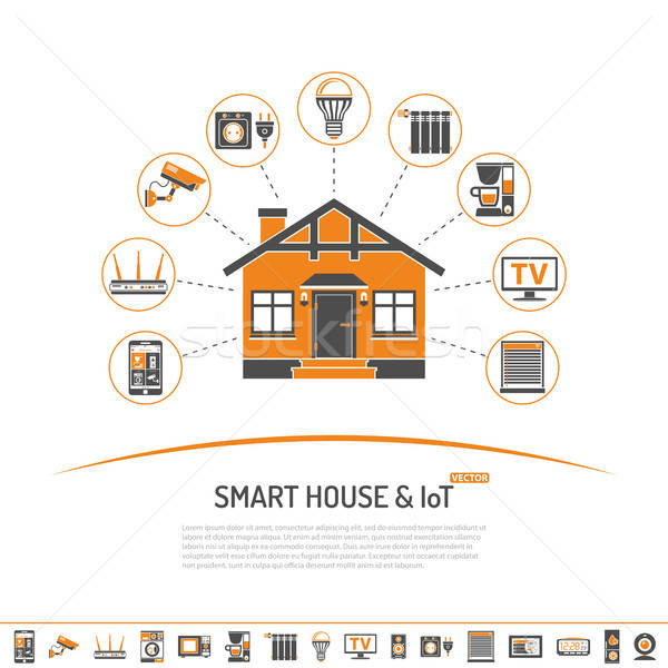 Smart House and internet of things concept Stock photo © -TAlex-