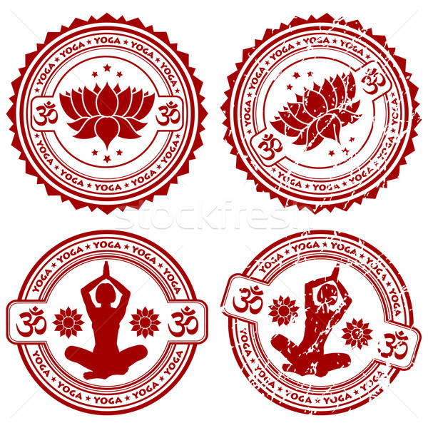 Collect Yoga stamps Stock photo © -TAlex-