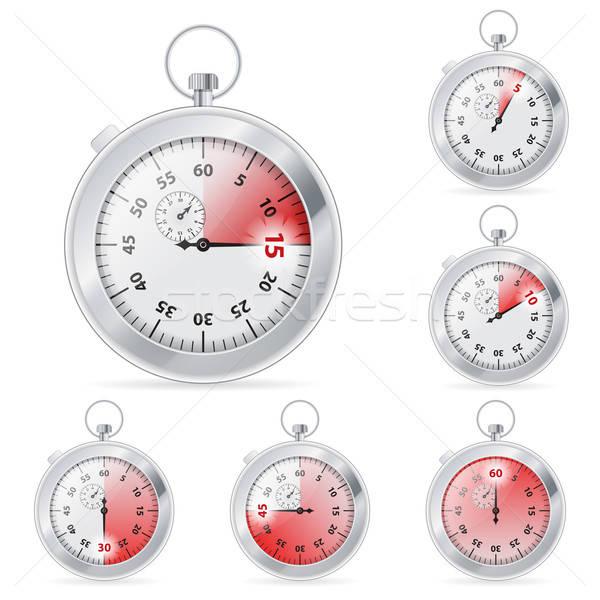 Timer set tempo vettore isolato Foto d'archivio © -TAlex-