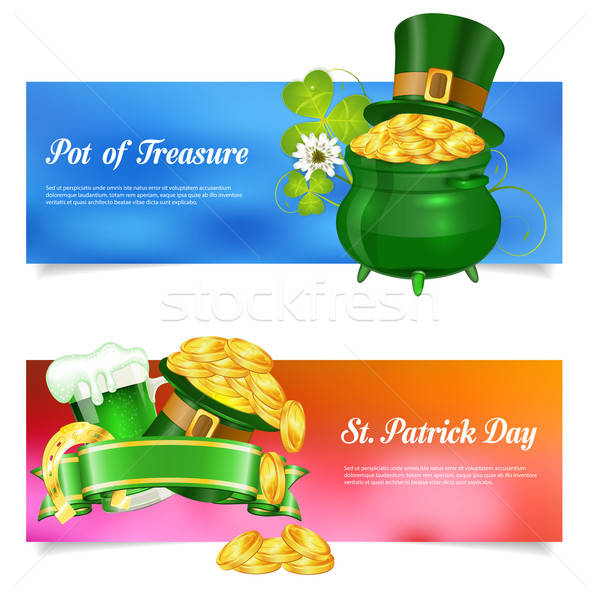 St. Patrick Day Banners Stock photo © -TAlex-
