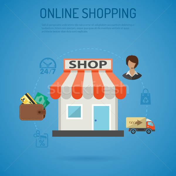 Internet Shopping Poster Stock photo © -TAlex-