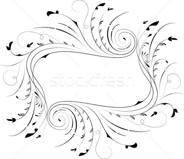 Frame element ontwerp vector bloem Stockfoto © -TAlex-