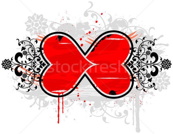 Grunge floral frame Stock photo © -TAlex-