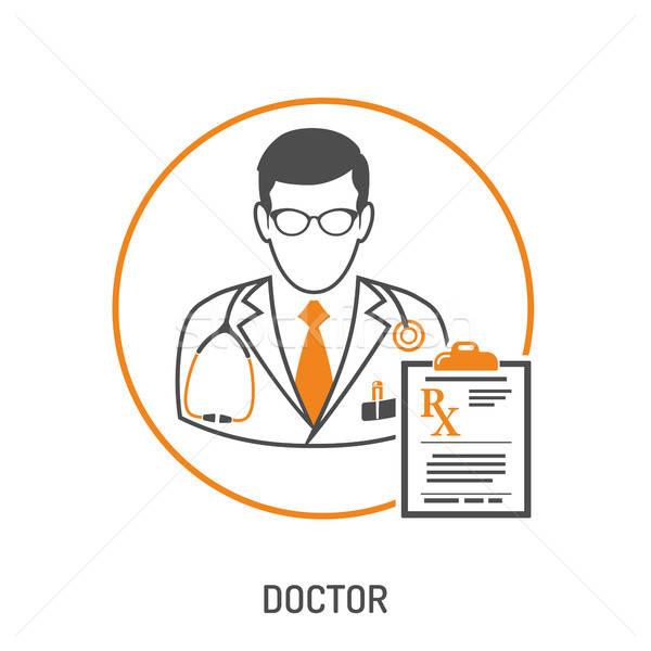 Medycznych recepta lekarza schowek dwa kolor Zdjęcia stock © -TAlex-