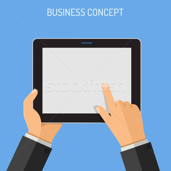 Man hand business Stockfoto © -TAlex-
