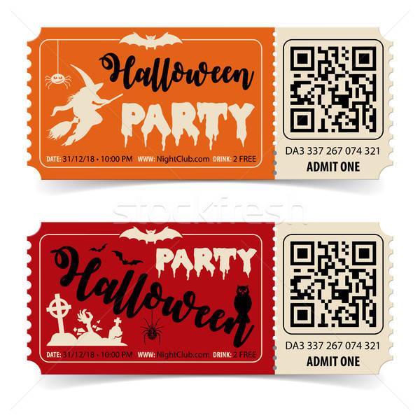 Happy Halloween Party Tickets Stock photo © -TAlex-