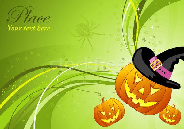 Halloween golfpatroon element ontwerp blad Stockfoto © -TAlex-