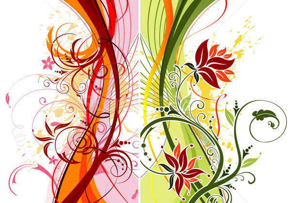 Grunge flower background Stock photo © -TAlex-