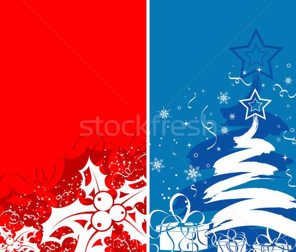Karácsony kettő absztrakt fagyöngy alkotóelem terv Stock fotó © -TAlex-