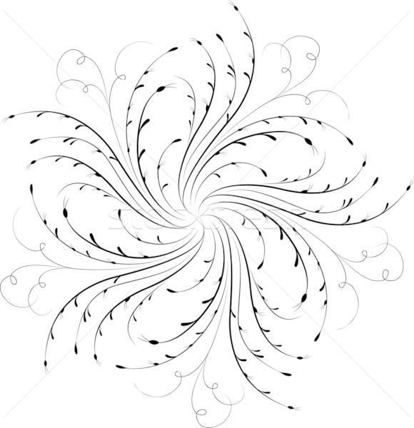 Element for design, corner flower, vector Stock photo © -TAlex-