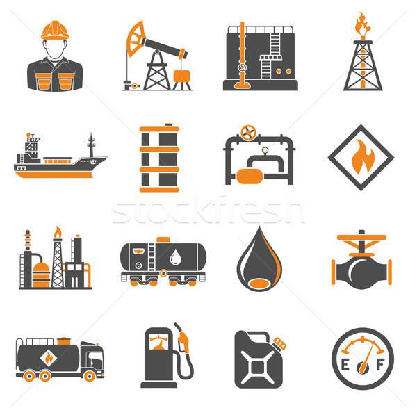 Przemysł naftowy produkcji transport oleju benzyny Zdjęcia stock © -TAlex-