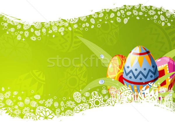 Stok fotoğraf: Paskalya · çerçeve · yumurta · dizayn · bahar