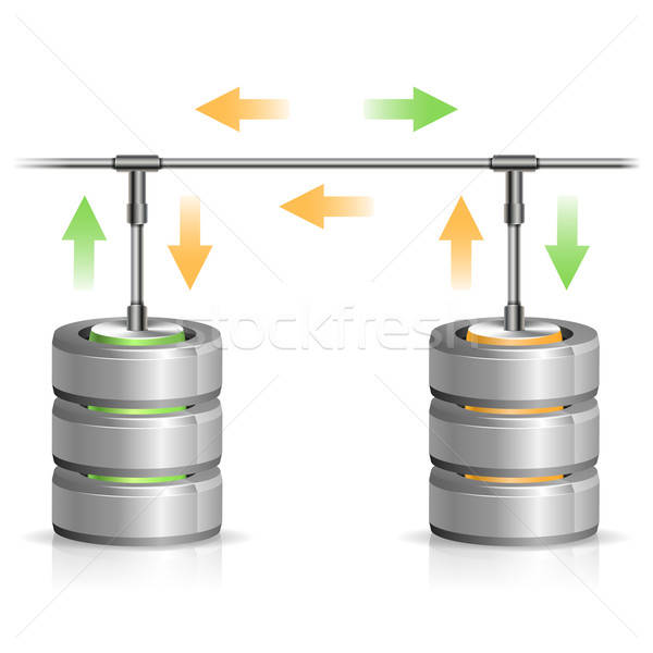 Database backup concept icon pijl Stockfoto © -TAlex-