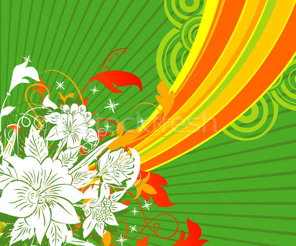 Absztrakt virágmintás káosz festék alkotóelem terv Stock fotó © -TAlex-