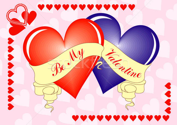 Valentine background, card, vector Stock photo © -TAlex-