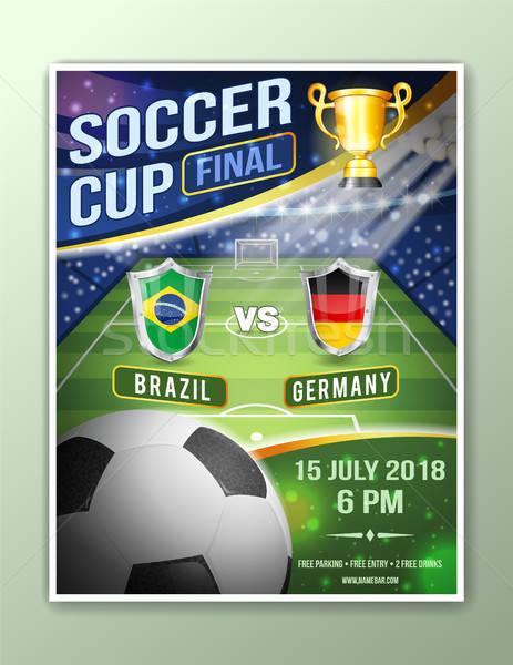 Piłka Nożna Piłka Nożna Plakat Mistrzostwo Piłka
