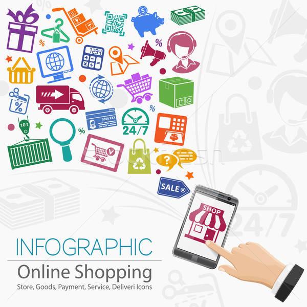 Internet Shopping Infographic Stock photo © -TAlex-