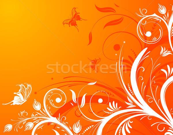 çiçek kelebek dizayn soyut yaprak Stok fotoğraf © -TAlex-