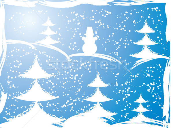 Grunge año nuevo árbol vector wallpaper vacaciones Foto stock © -TAlex-