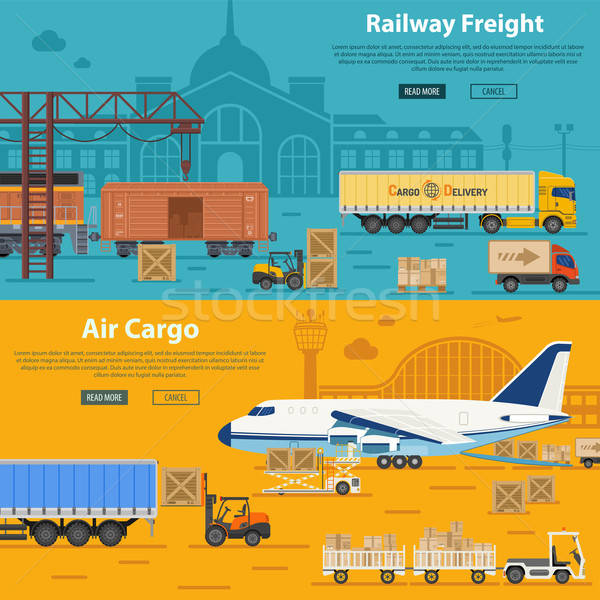 Railway Freight and Air Cargo Stock photo © -TAlex-