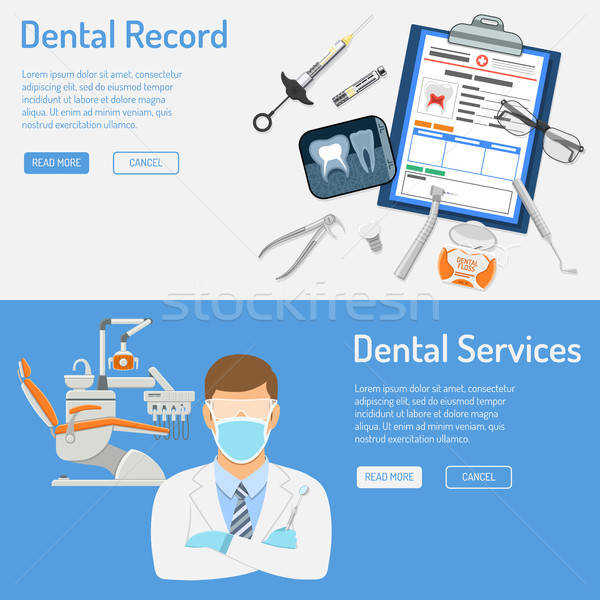 Stock photo: Dental Services Horizontal Banners