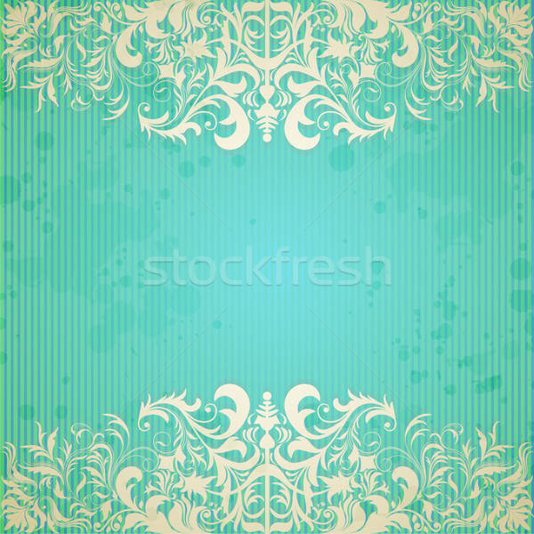 Vintage frame and grungy paper for design Stock photo © 0mela