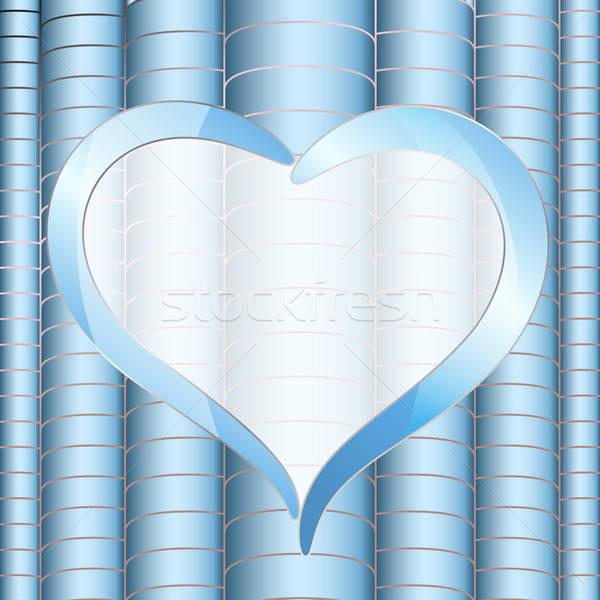 Vector abstract flyer hart frame ontwerp Stockfoto © 0mela