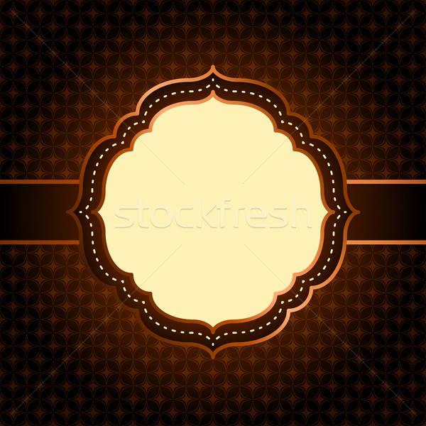 Sötét végtelenített geometrikus minta klasszikus keret papír Stock fotó © 0mela