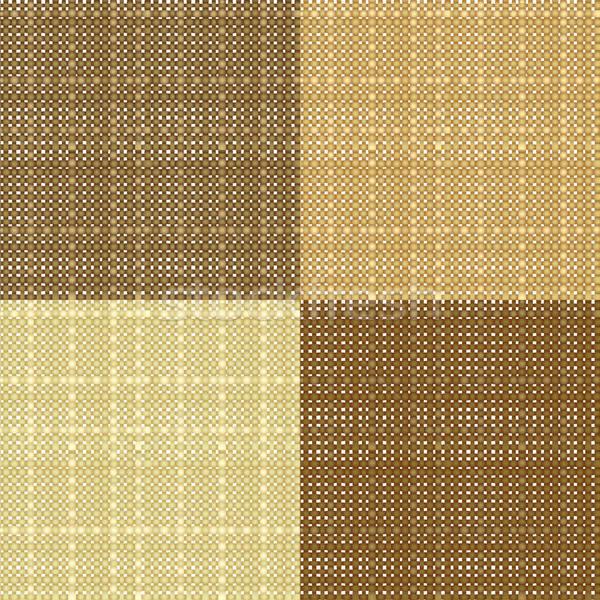 Szett valósághű végtelenített textúra háttér szövet Stock fotó © 0mela