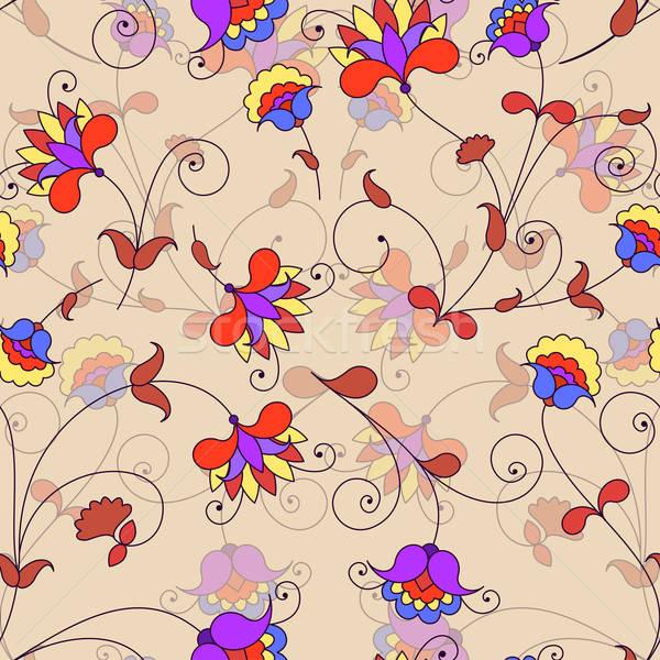 Vektor végtelenített virágmintás minta virág papír Stock fotó © 0mela