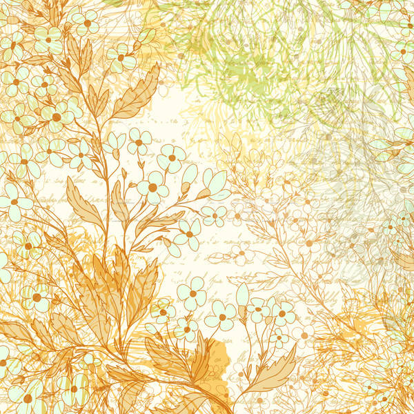 Hand drawn background with forget-me-not flowers Stock photo © 0mela