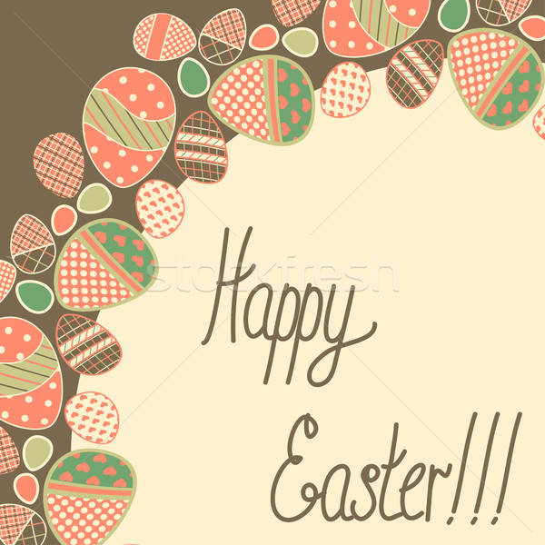 Bağbozumu Paskalya kart bahar mutlu boya Stok fotoğraf © 0mela