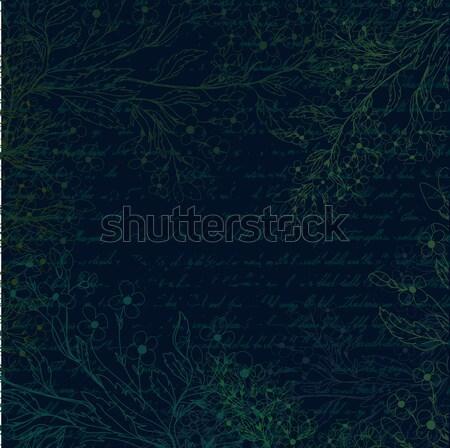 Sötét grunge virágok kert háttér művészet Stock fotó © 0mela