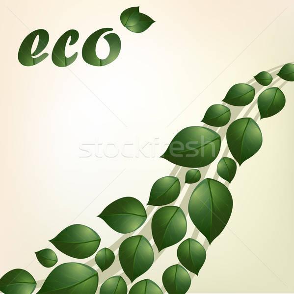 Vektor öko absztrakt természet háló grafikus Stock fotó © 0mela