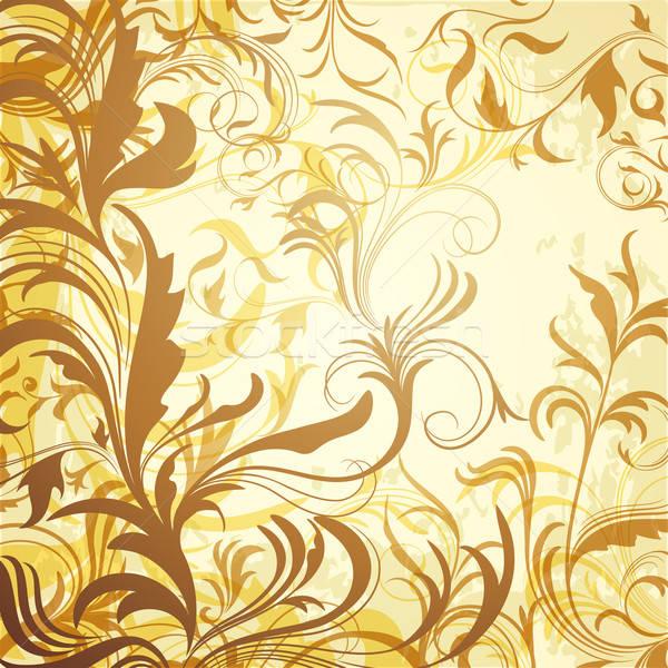 Szett kalligrafikus virágmintás ágak virág divat Stock fotó © 0mela