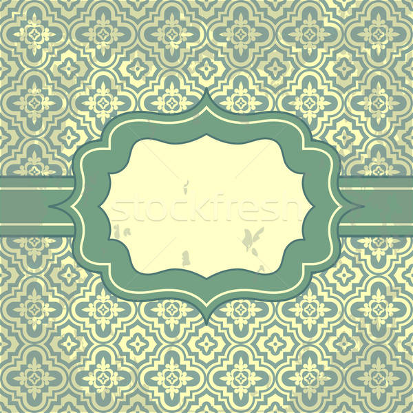 Vector vintage pattern and frame for design Stock photo © 0mela