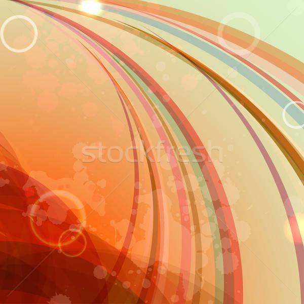Rétro résumé affaires texture feu lumière Photo stock © 0mela