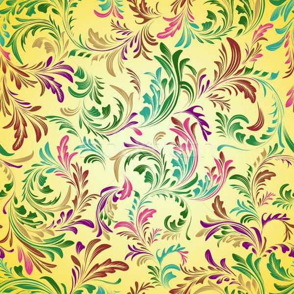 Klasszikus virágmintás végtelen minta virág papír divat Stock fotó © 0mela