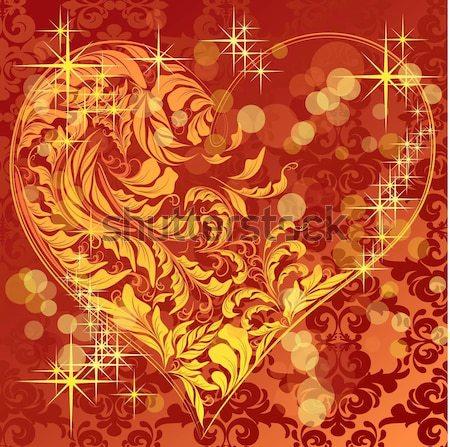 Vektör kalp sevmek ışık dizayn Stok fotoğraf © 0mela