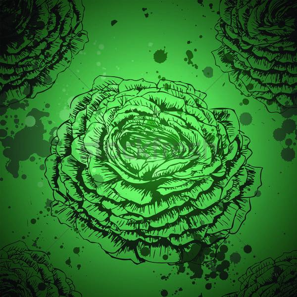 Végtelenített textúra rózsák vektor virág szeretet Stock fotó © 0mela