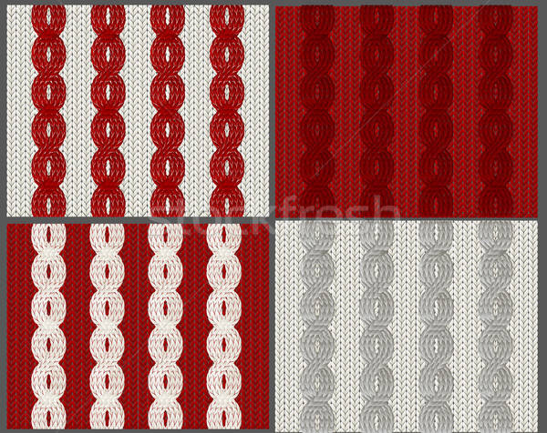 Set of knitted swatches with braids Stock photo © 0mela