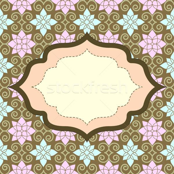 Retro meghívó végtelen minta absztrakt természet terv Stock fotó © 0mela