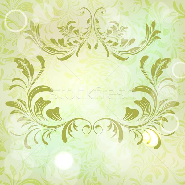 Vecteur résumé floral cadre mur Photo stock © 0mela