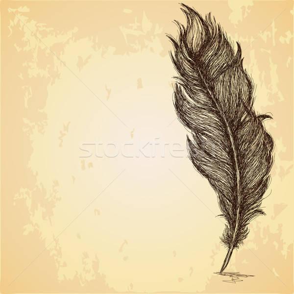 Croquis plumes texture résumé lumière Photo stock © 0mela