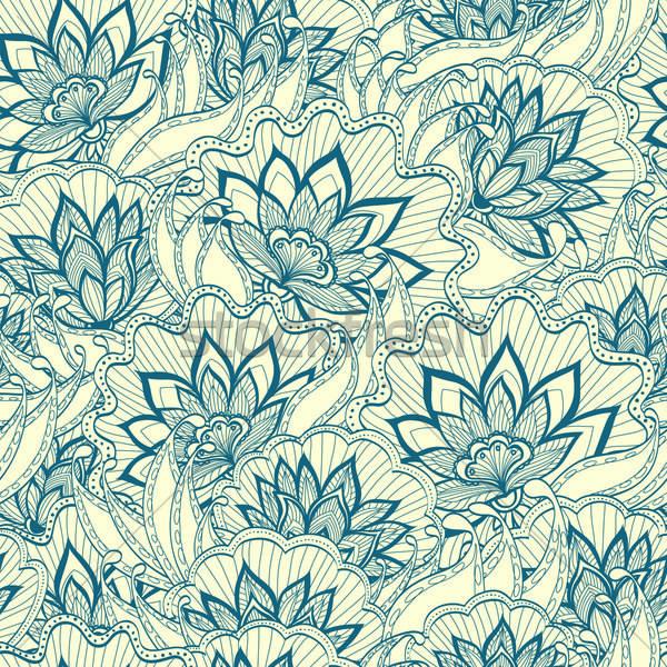 Tavasz minta virágok divat terv levél Stock fotó © 0mela
