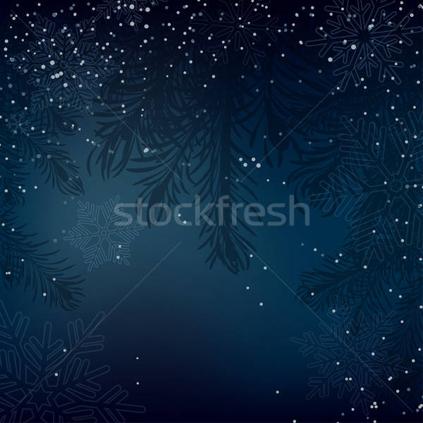 Night Christmas background with whirling snow Stock photo © 0mela