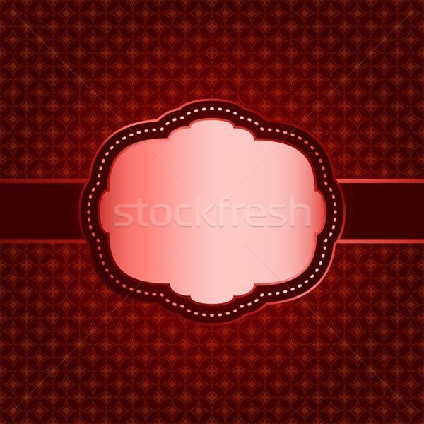Kırmızı geometrik desen bağbozumu çerçeve kâğıt Stok fotoğraf © 0mela