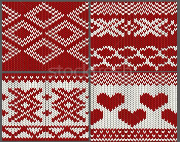 Tricoté texture rouge couleur Photo stock © 0mela